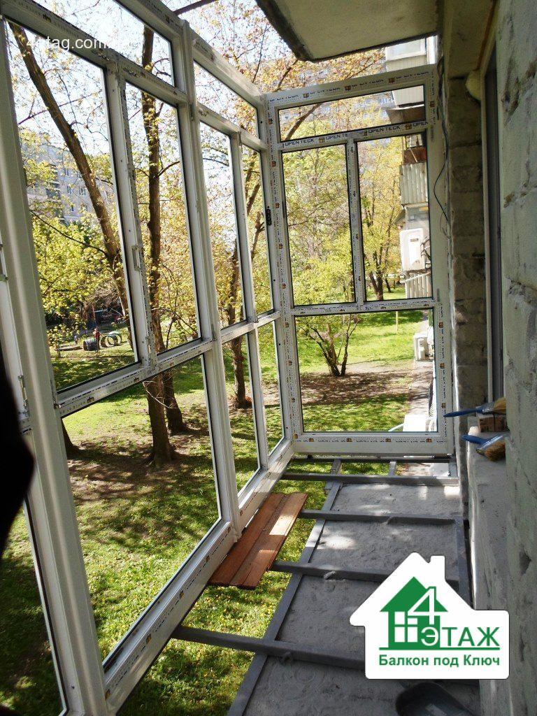 Галерея балкон под ключ тм 4 этаж - строим дом.